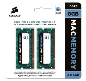 mac memory corsair 8 gb 1333mhz