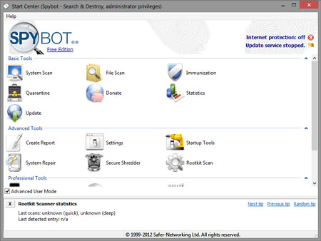 migliori antimalware - Spybot - Search and Destroy