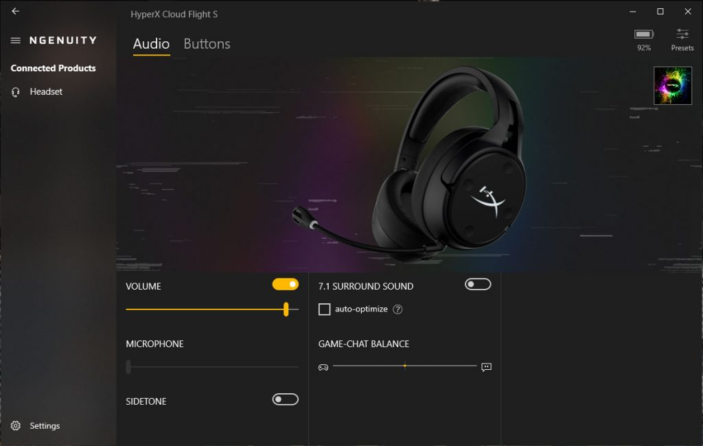 Recensione HyperX Cloud Flight S Software NGENUITY